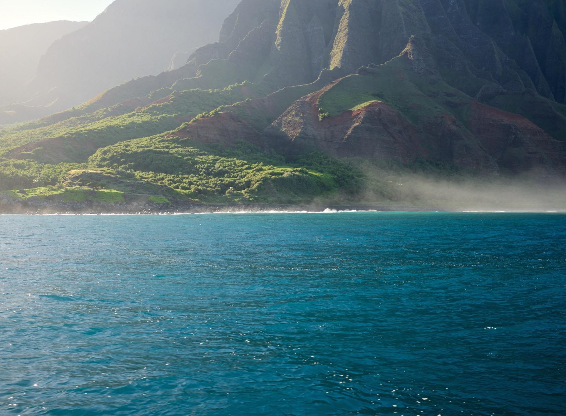 Nā Pali coast from the sea